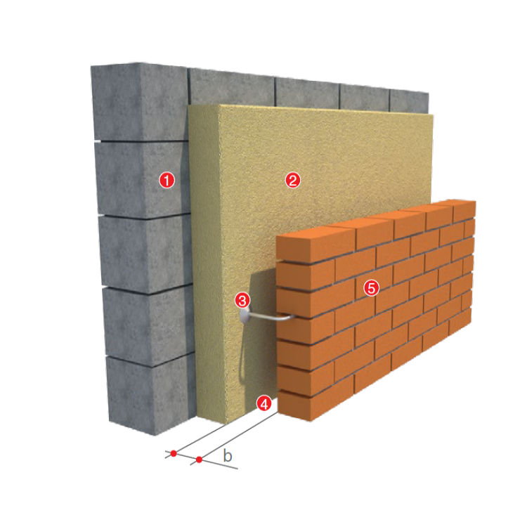 THREE-LAYERED BRICKWORK
