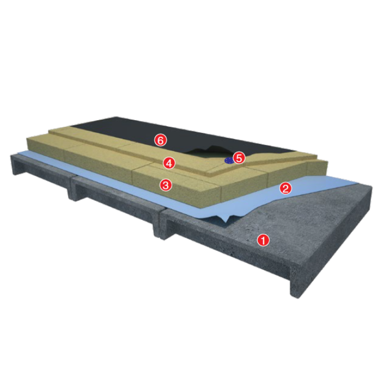 FLAT ROOFING. DOUBLE-LAYER INSULATION
